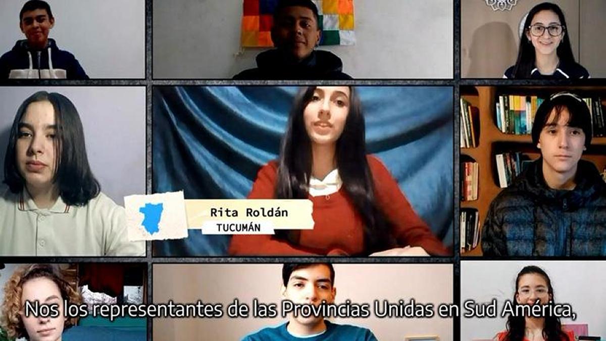 Acto Nacional: una estudiante tucumana ante todo el país