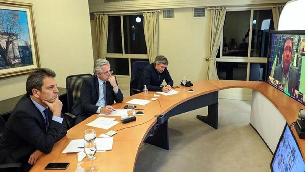 El presidente Alberto Fernández se reunió con la oposición