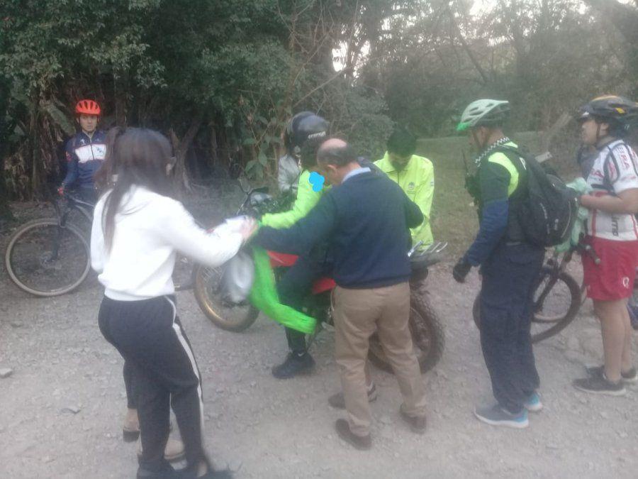 Rescate de un ciclista en el Parque Sierra de San Javier