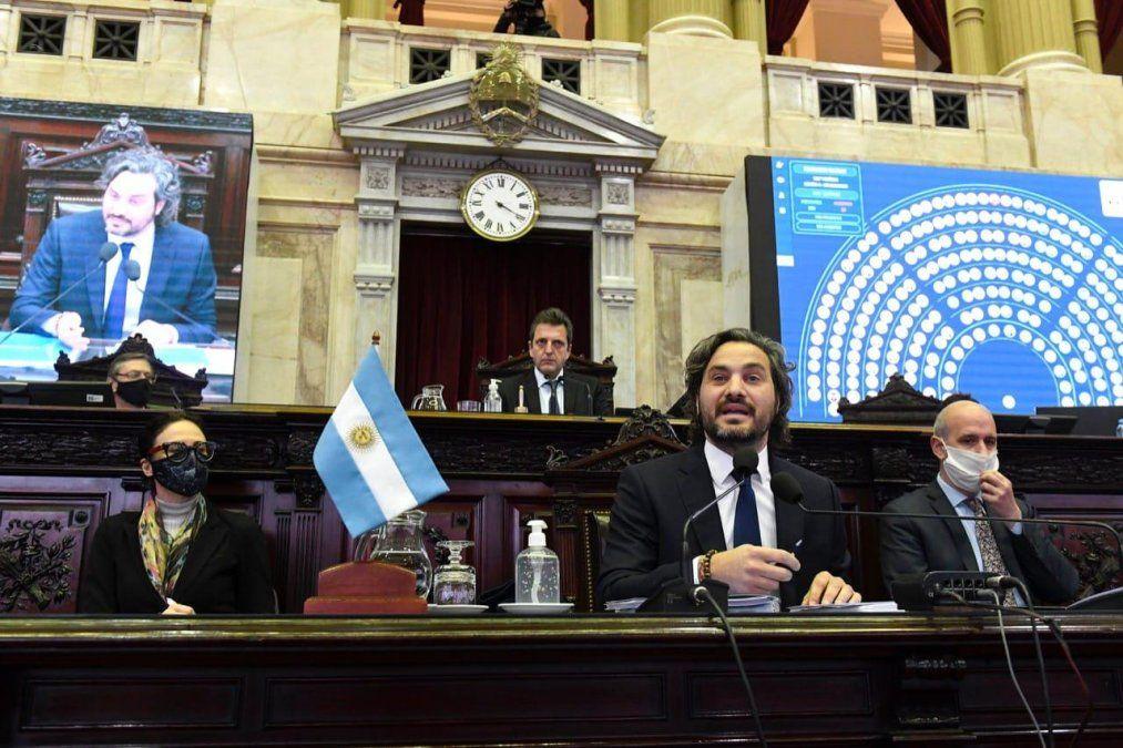 Santiago Cafiero presentó el primer informe de gestión