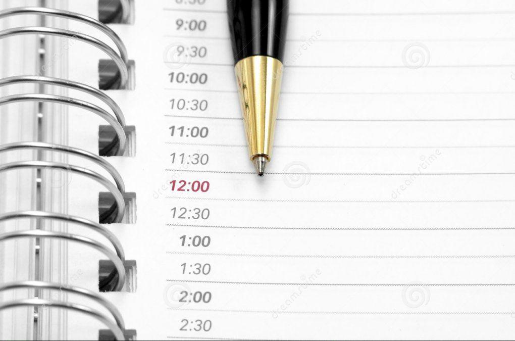 Agenda para comenzar el día
