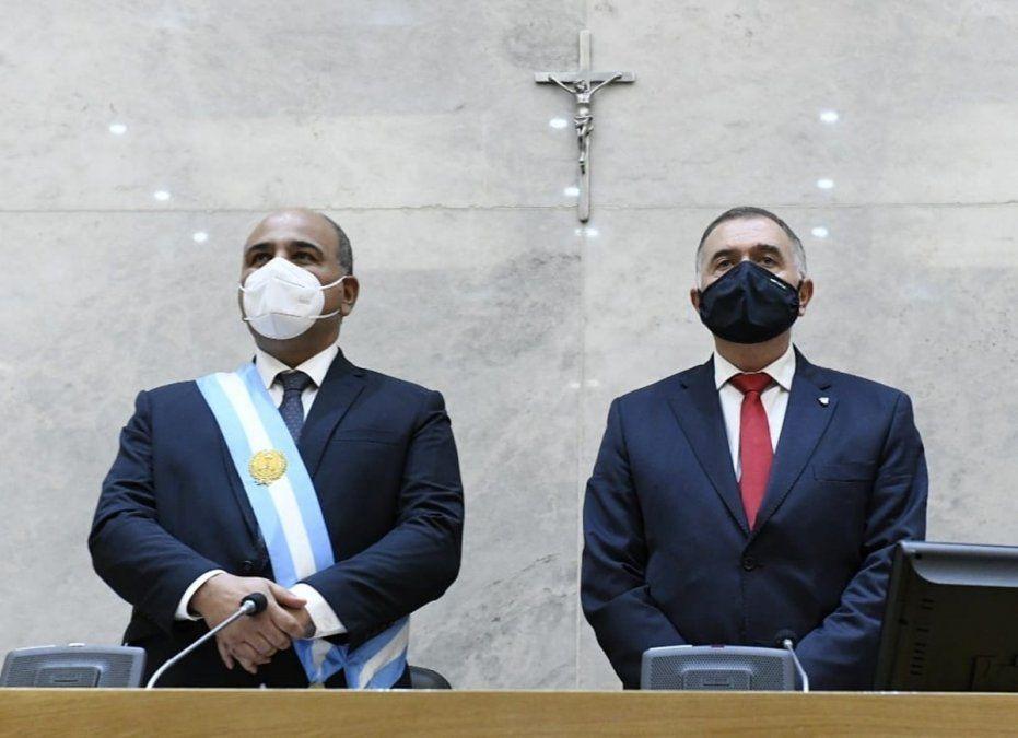 Manzur brindó un discurso con eje en la pandemia