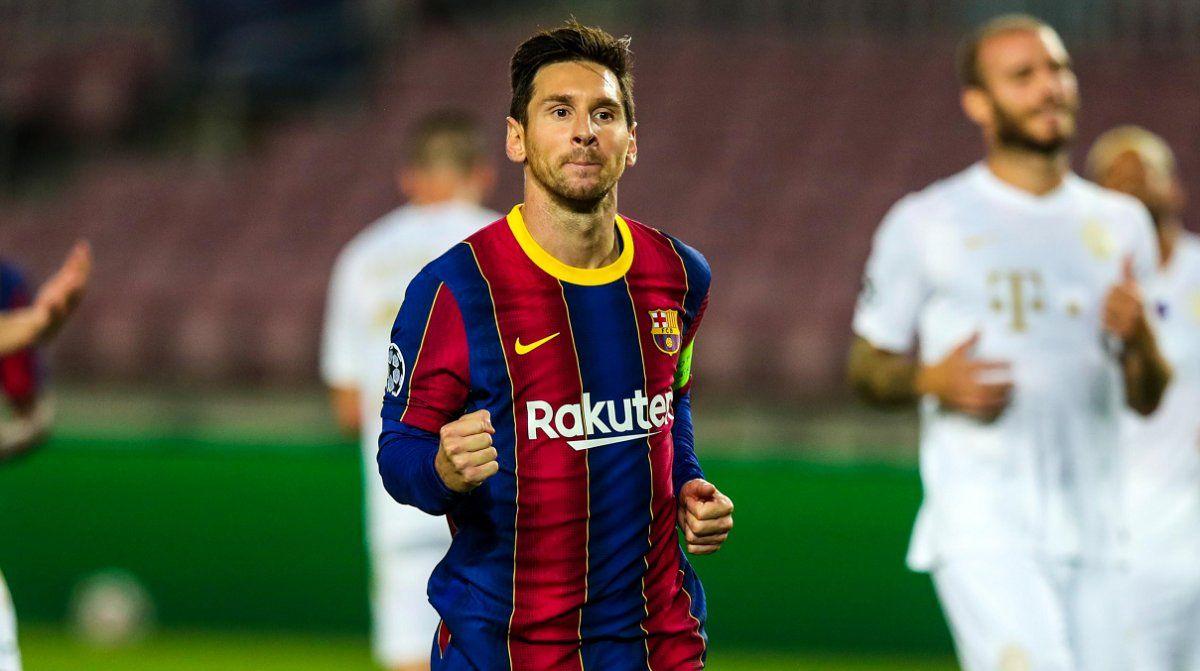 Messi estrenó el tanteador de la goleada del Barcelona