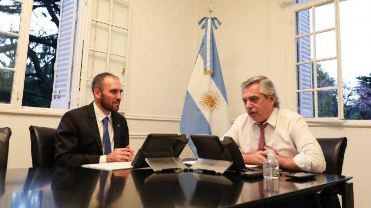 Alberto Fernández recibió a Martín Guzmán en su despacho