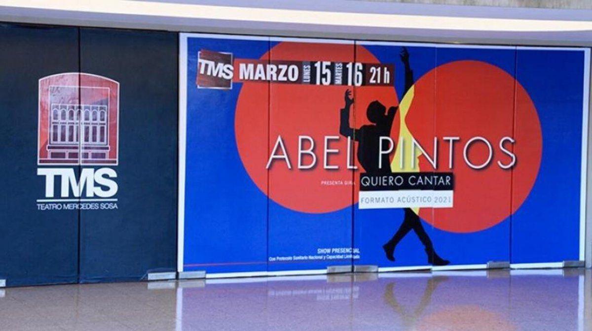 El Teatro Mercedes Sosa le abre sus puertas a Abel Pintos