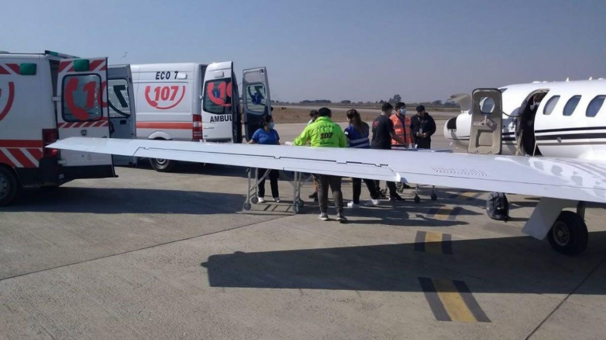 Tres pacientes tucumanos fueron trasladados vía aérea