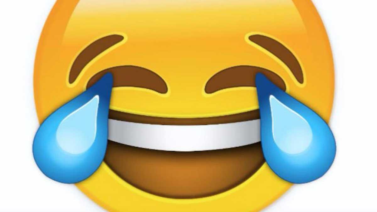 El emoji de la risa con llanto