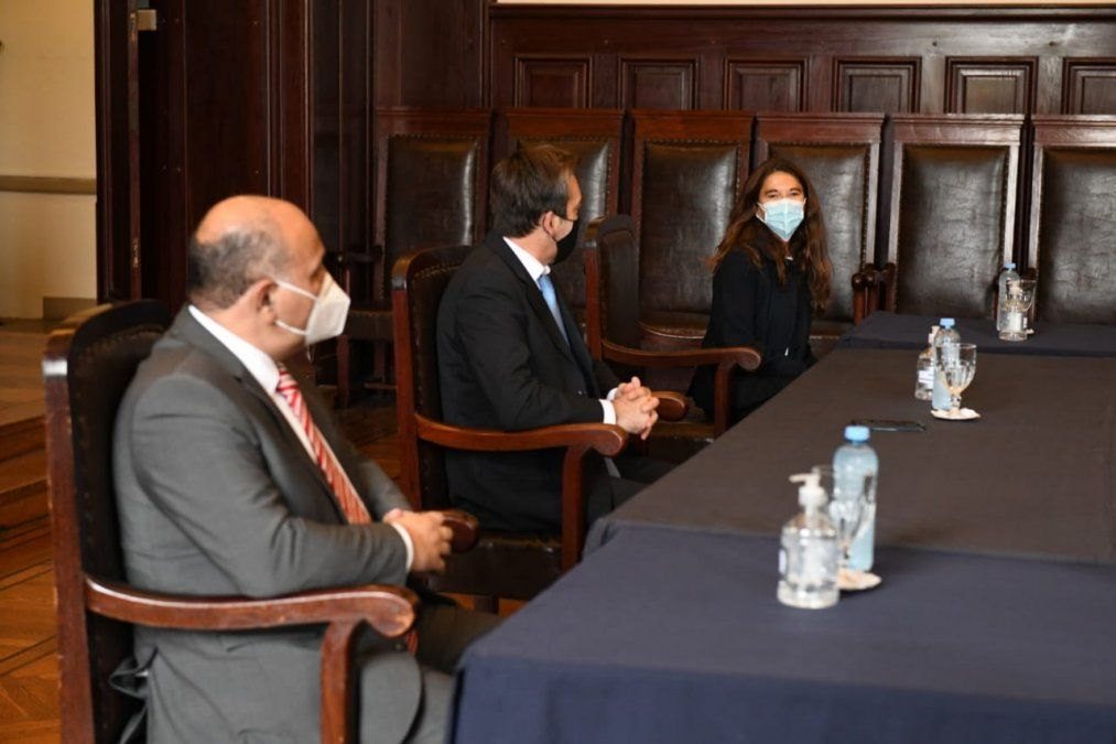 Manzur y el ministro Soria estuvieron en la Corte Suprema