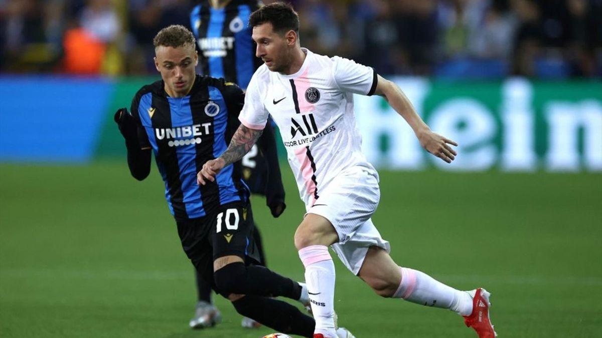 Pálido PSG: con Messi como titular igualó 1-1 en Bélgica
