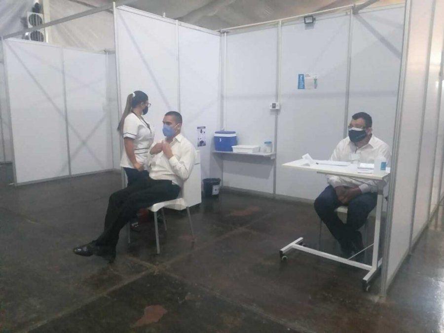 Se realizó el simulacro de vacunación en el hospital Eva Perón
