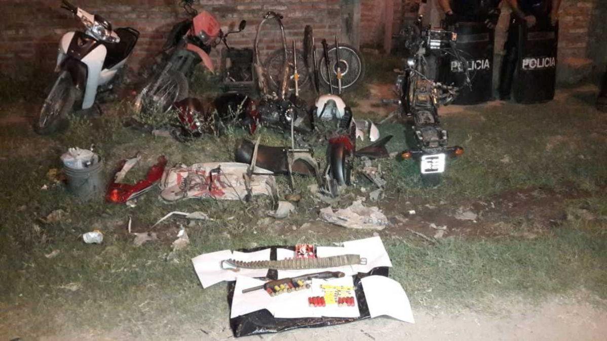 Desarticulan una banda dedicada a robar motos, desarmarlas y vender sus partes
