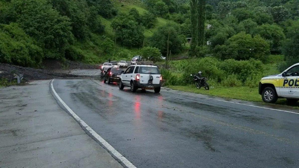 Pese a la lluvia, se circula con normalidad por la ruta provincial 307