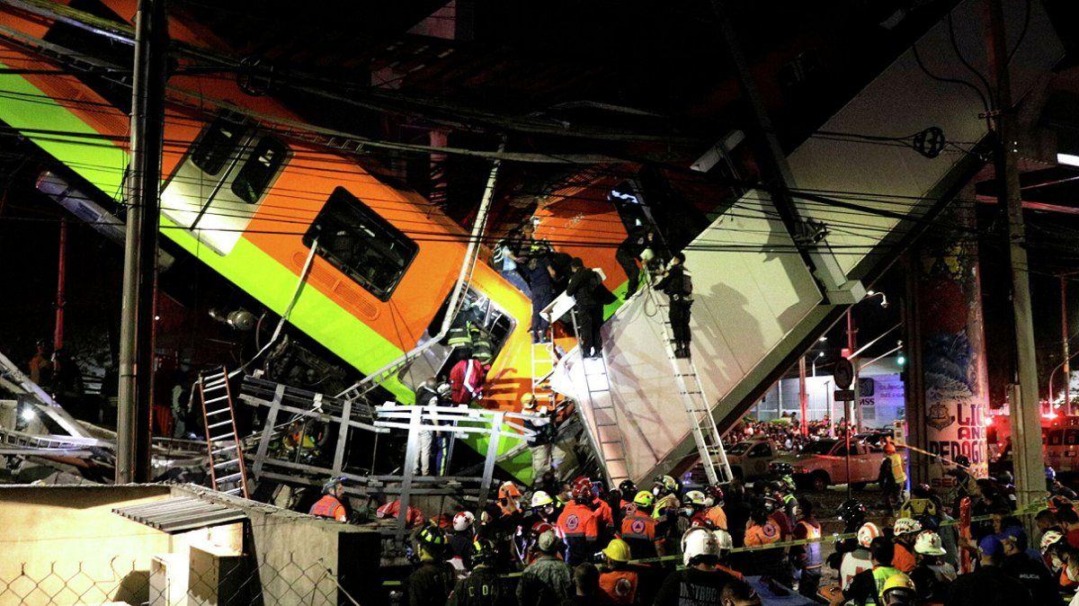 Conmoción en México: se derrumbó el metro y hay 23 muertos