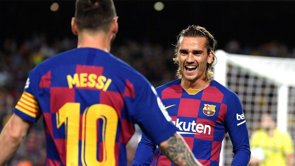 Antoine Griezmann llegó a Barcelona para competir con Luis Suarez en el puesto.