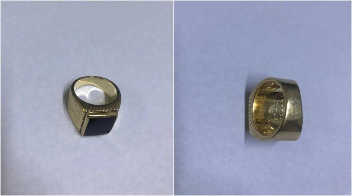 El histórico anillo de Carlos Menem apareció.