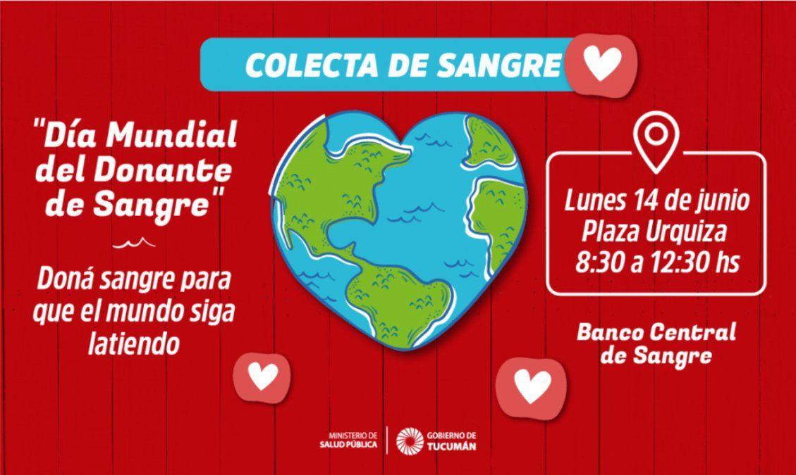 Piden colaboración para la donación de sangre en Tucumán