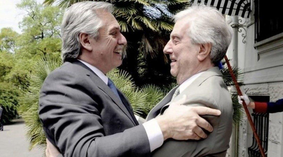 Alberto y Cristina se pronunciaron por la muerte de Tabaré Vázquez