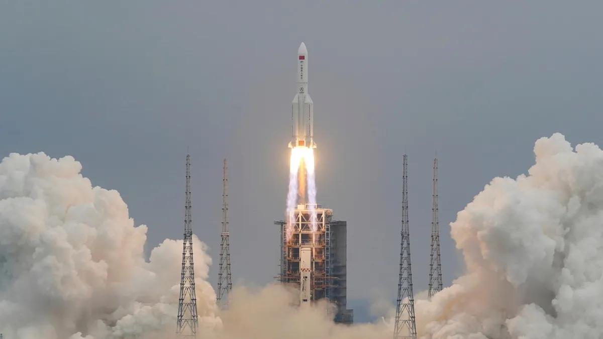 El cohete chino ya cayó.