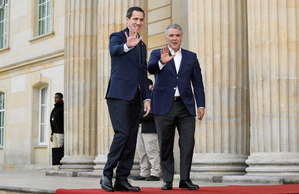 Guaidó llegó a Colombia y se reúne con Mike Pompeo