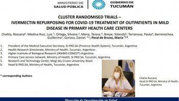 Uso de Ivermectina: Tucumán aporta sus investigaciones