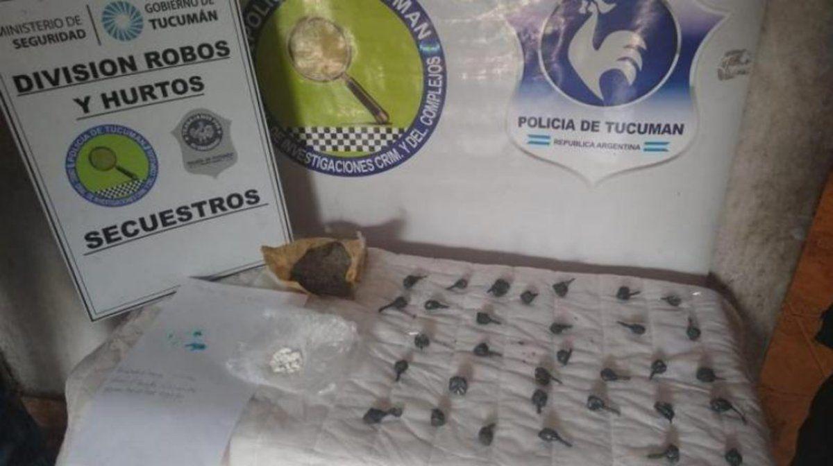 Investigaban por un robo y se encontraron con drogas