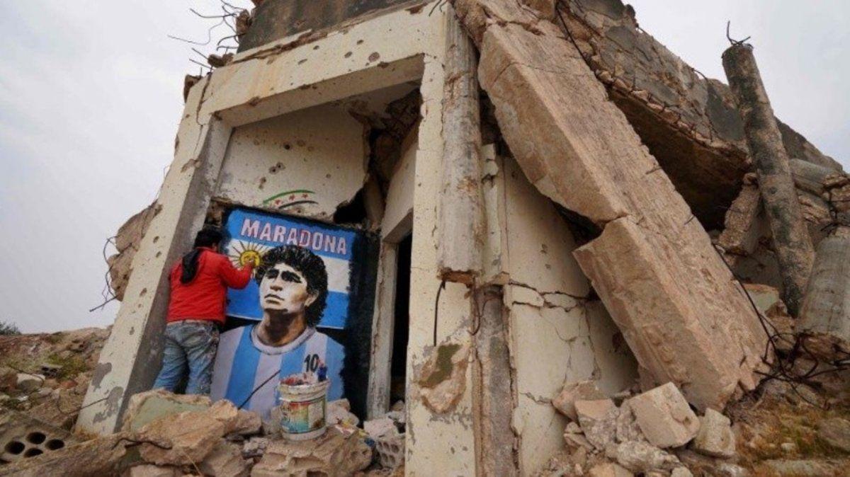 El homenaje a Maradona en Siria