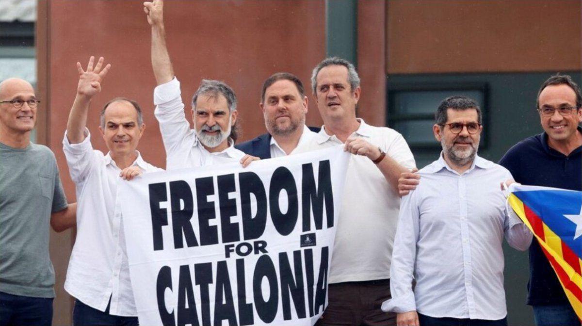 Tras indultos, liberaron a líderes independentistas catalanes