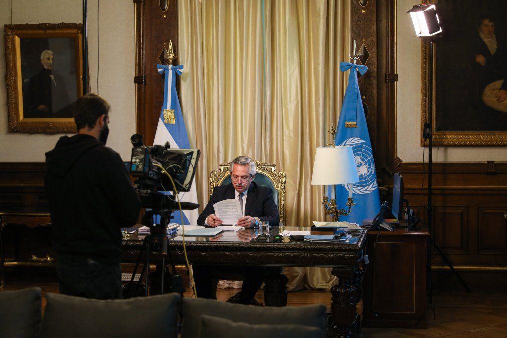 Alberto Fernández ante la ONU: nadie se salva solo