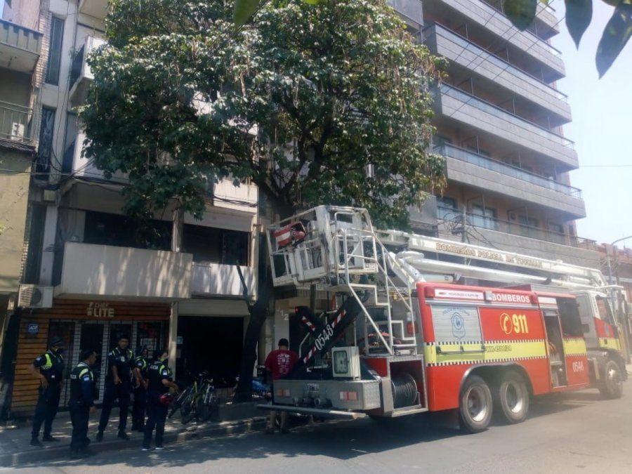 Incendio en un edificio de Lamadrid al 900