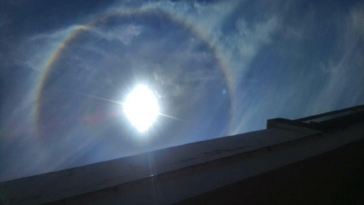 El cielo de Tucumán disfrutó de un nuevo halo solar