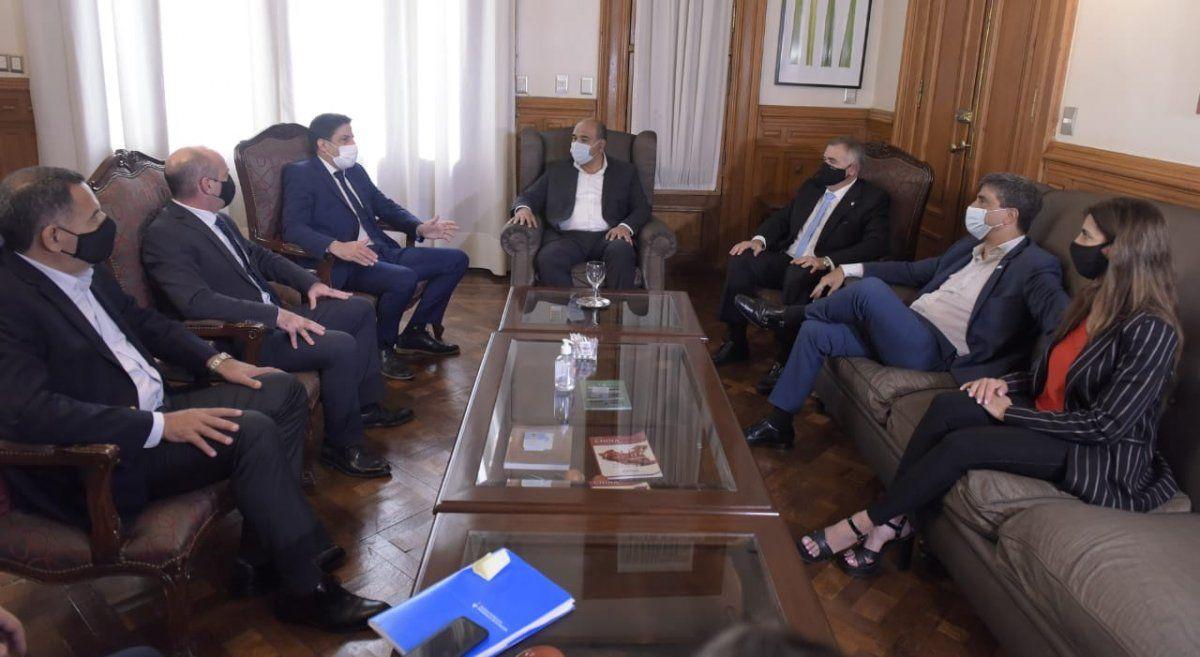 Trotta fue recibido por Manzur en Casa de Gobierno