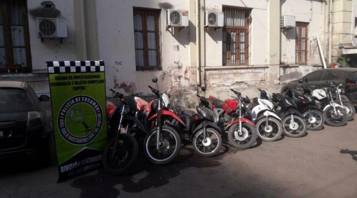 Secuestraron motos valuadas en más de un millón de pesos