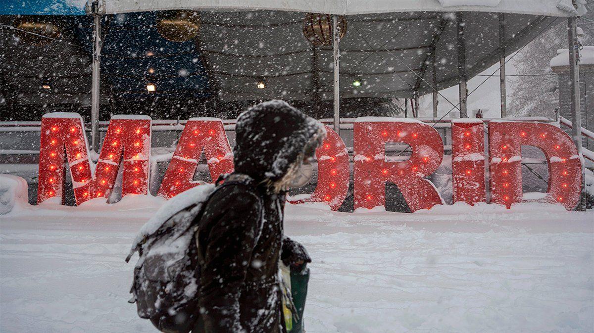 Filomena en Madrid: estamos en alerta roja, aun continúa la situación critica
