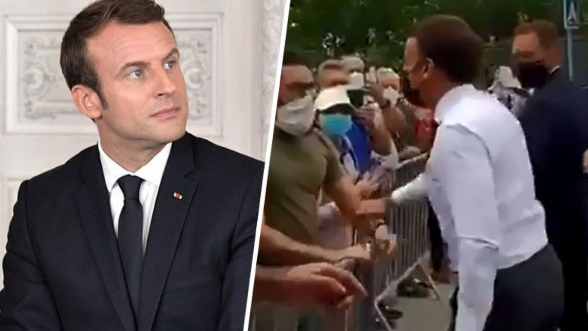 Macron recibió una cachetada de un hombre en plena calle. Foto: novedadesdeaca.mx