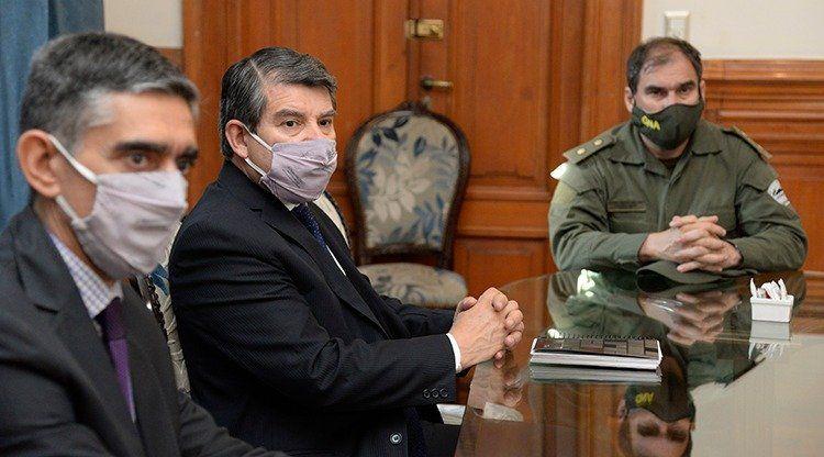 El Ministro de Seguridad, Claudio Maley también participó de la reunión.