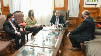 Pre Lluvias: Jaldo recibióa la intendenta de Alberdi