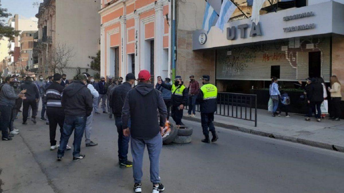 Protesta que realizaron hace unos días (Foto La Gaceta)