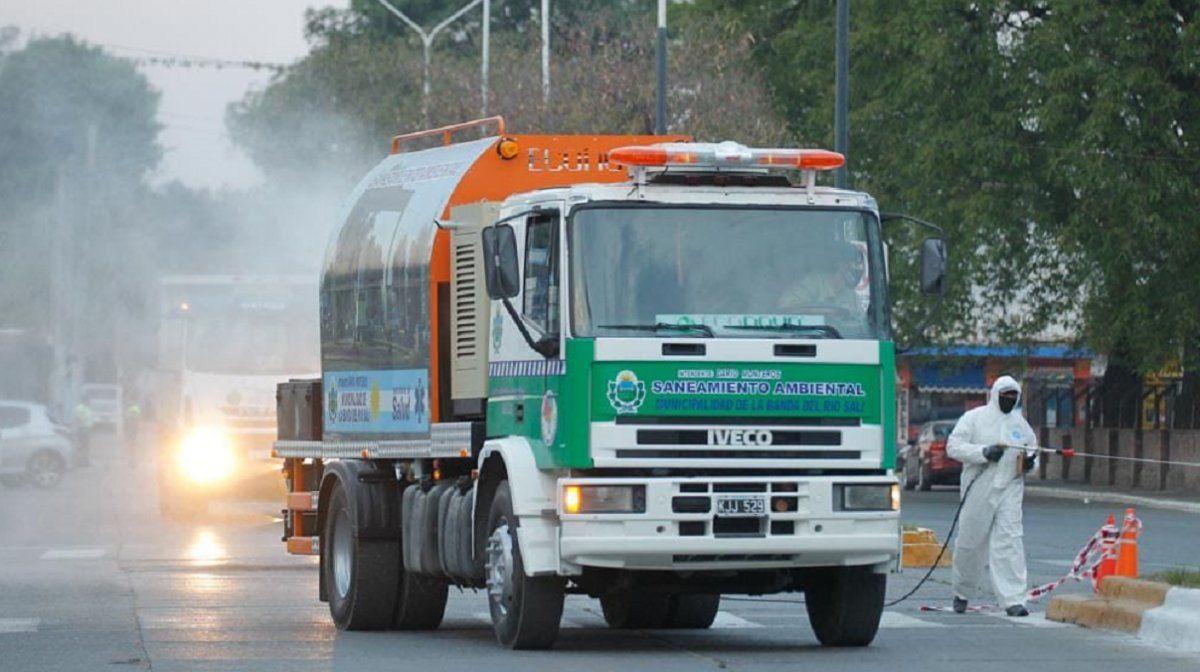 Banda del Río Salí incorporó un camión desinfectante
