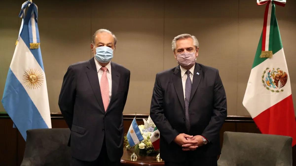 Alberto Fernández se reunió con el empresario mexicano Slim