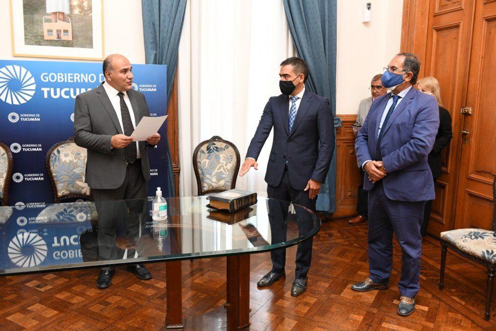 Manzur tomó juramento al nuevo secretario de Vinculación con Organizaciones