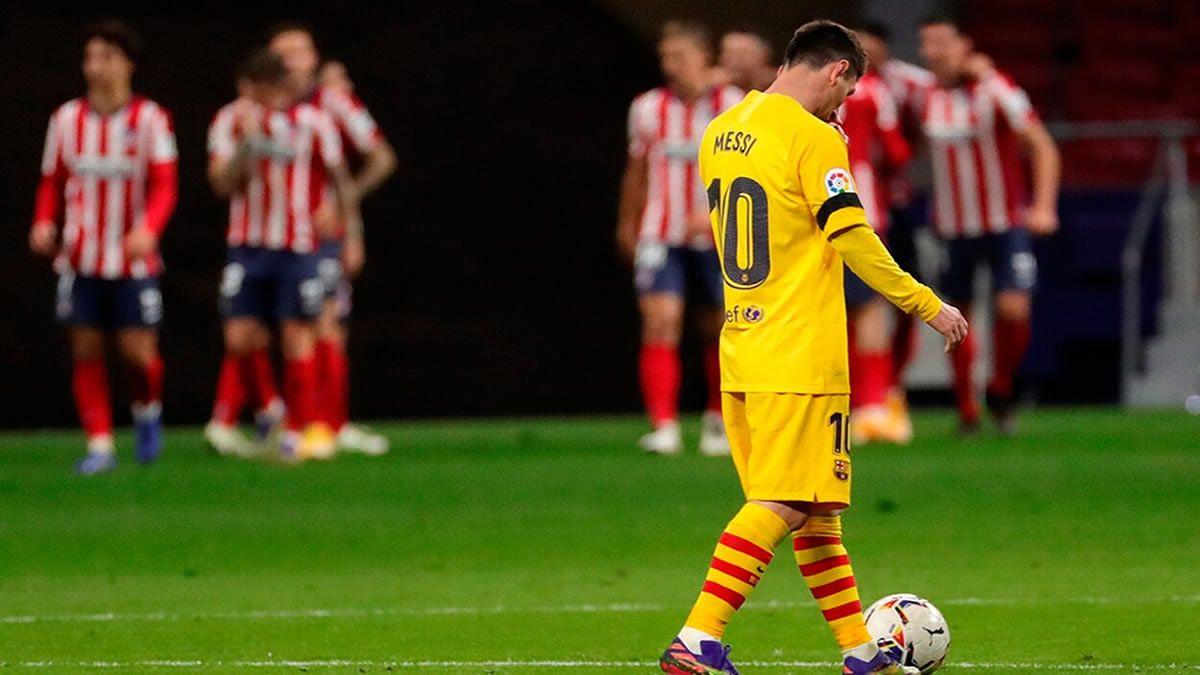 Atlético de Madrid venció 1 a 0 a Barcelona, con Messi de titular