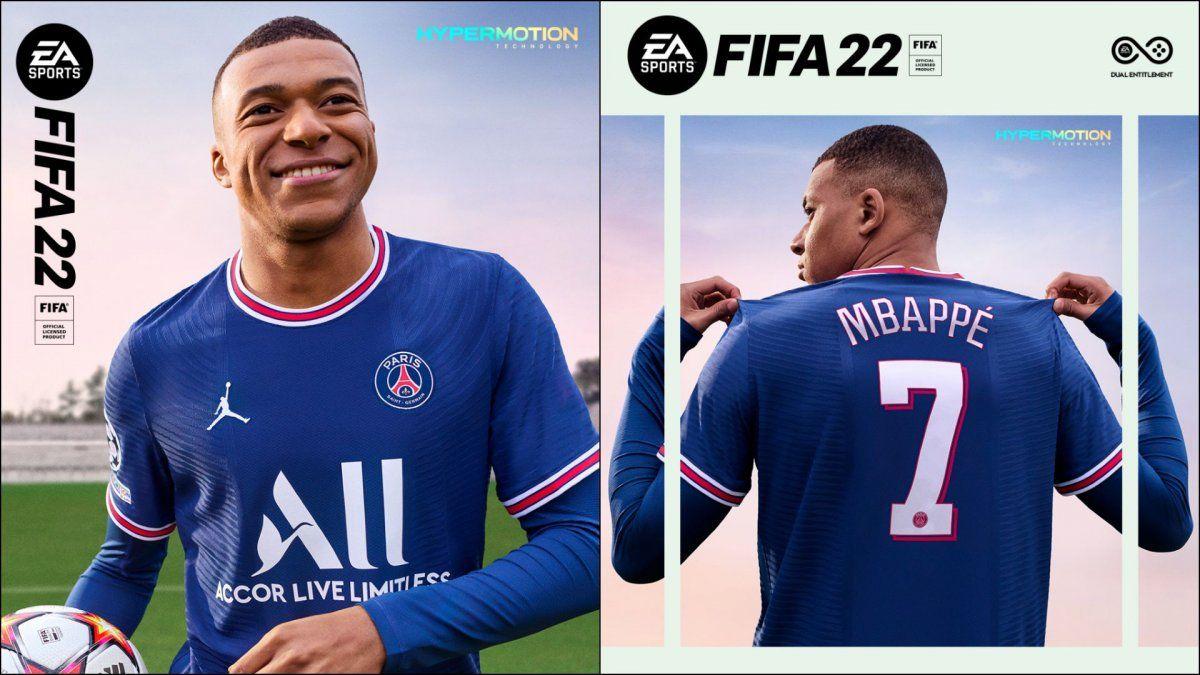 Kylian Mbappe protagoniza la portada del FIFA 22. Foto: as.com