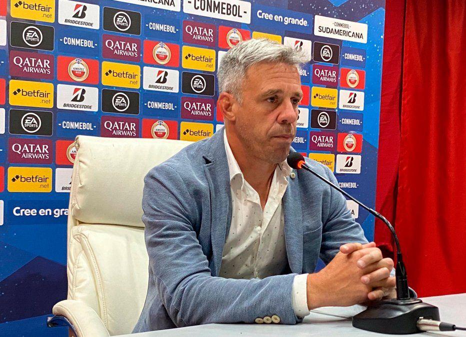 Lucas Pusineri habló en rueda de prensa luego del triunfo del Rojo.