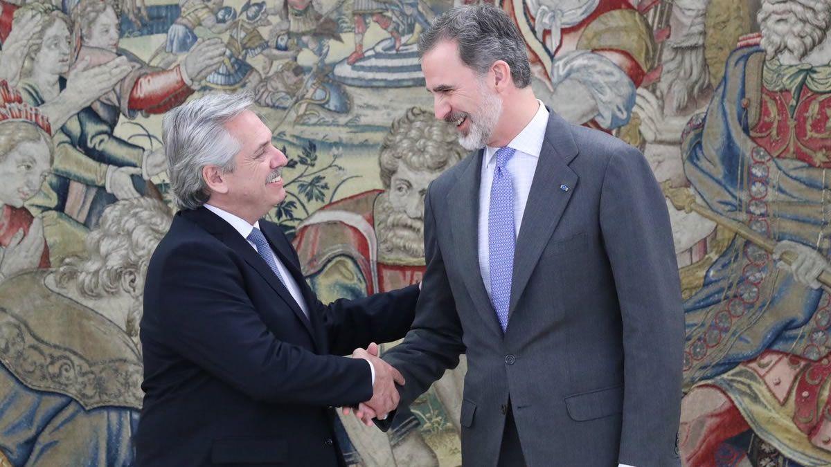 Cónclave entre el presidente Fernández y el rey de España