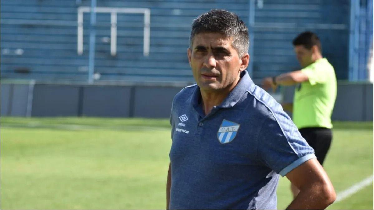 Martín Anastasio es el DT interino de Atlético Tucumán.