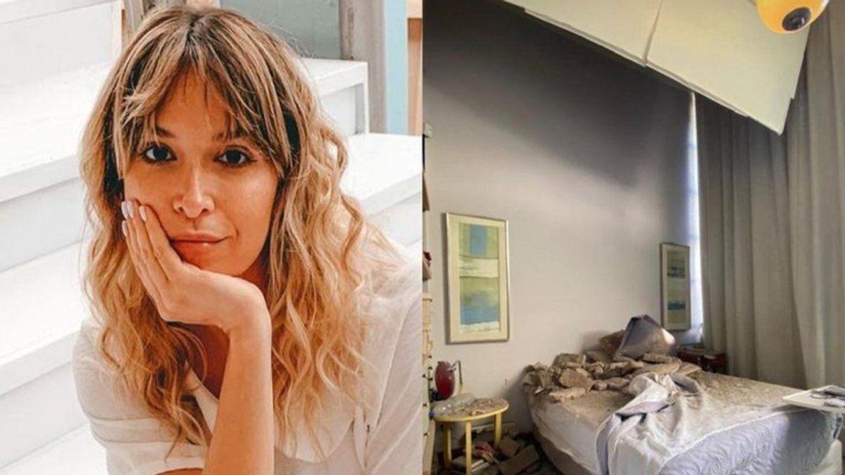 El susto de Sofía Pachano por el derrumbe del techo de su casa