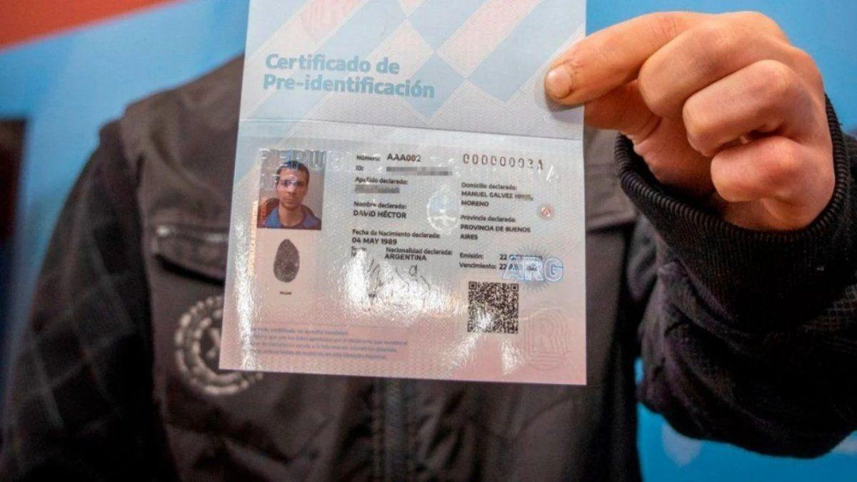 ¿De qué se trata el certificado de Pre-identificación?