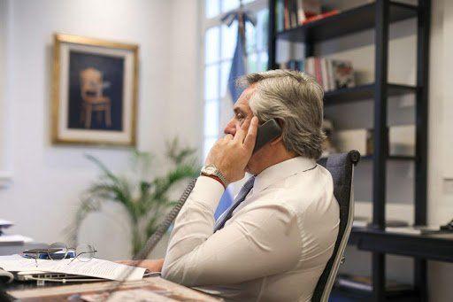 Fernández mantuvo el primer contacto con Biden