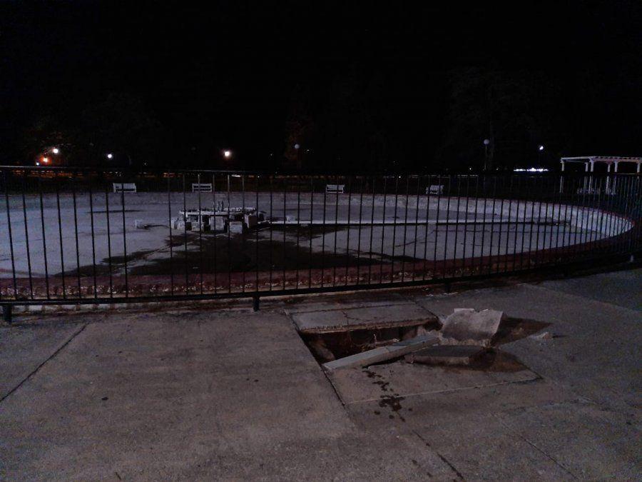 Parque 9 de Julio: rescataron a un niño tras caer en un pozo