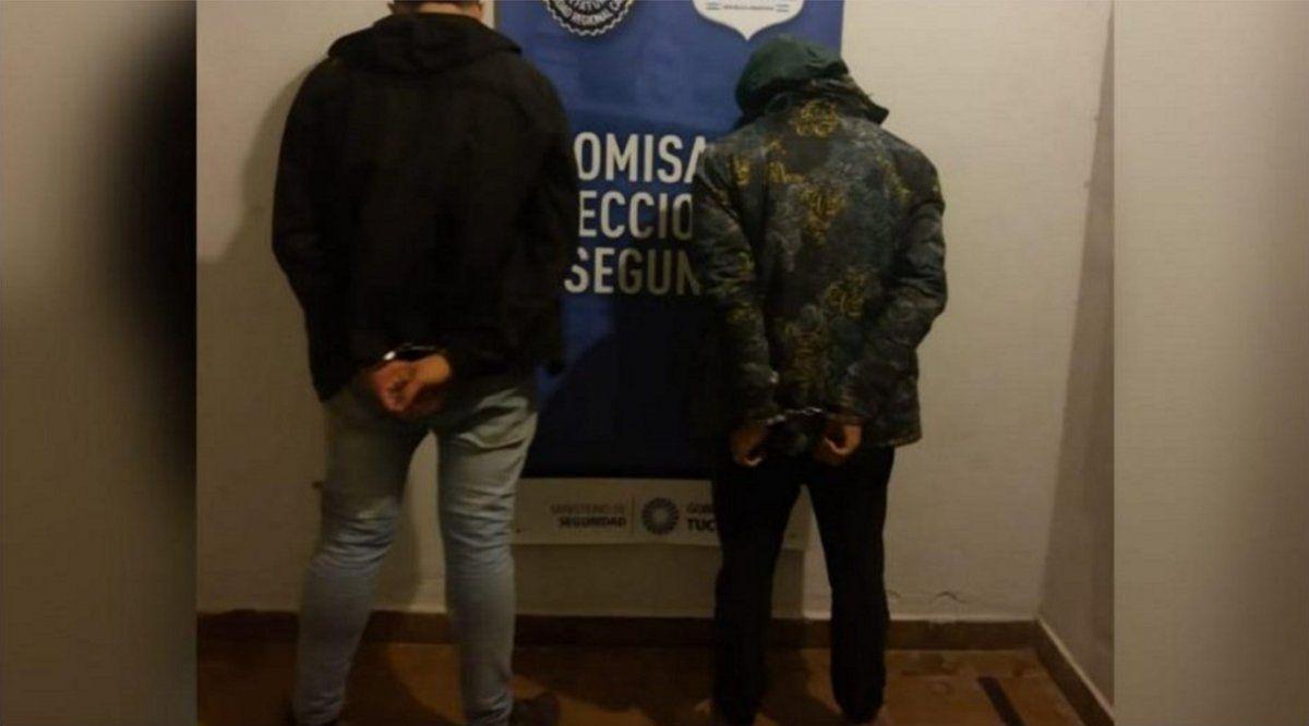 Motochorros detenidos por el robo de un celular